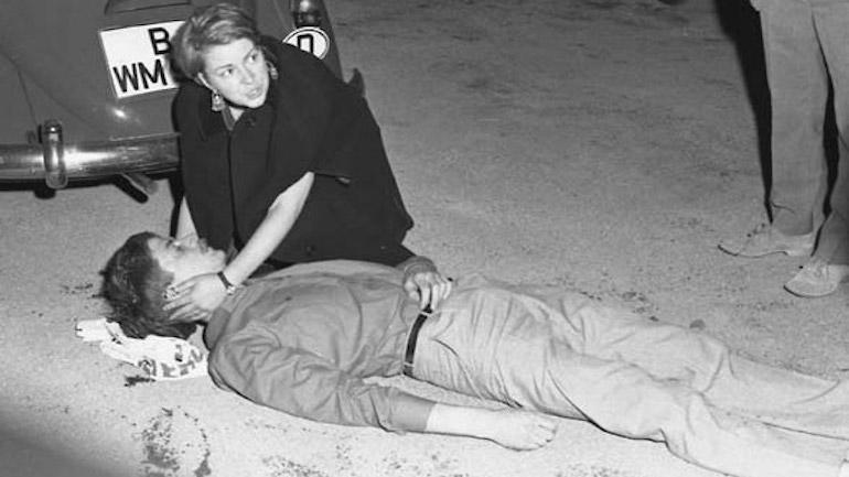 לאחר הירי בבנו אוהנזורג, 2 ביוני 1967.