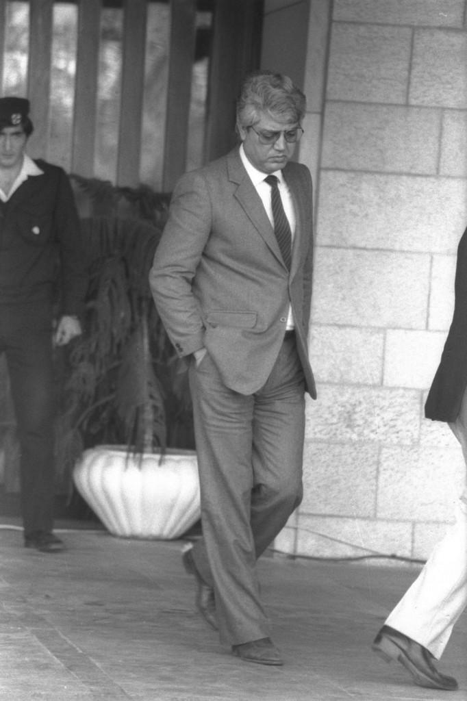 דוד לוי, 1983. צילום: HARNIK NATI / לע״מ