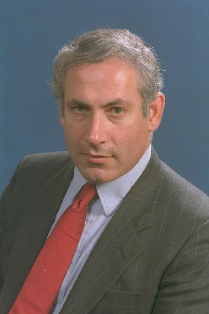 ח״כ בנימין נתניהו, 1988. צילום: יעקב סער / לע״מ