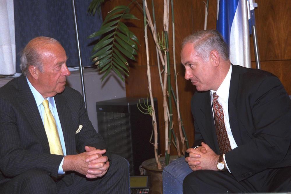 ביבי ושולץ, 1998. צילום: עמוס בן גרשום / לע״מ
