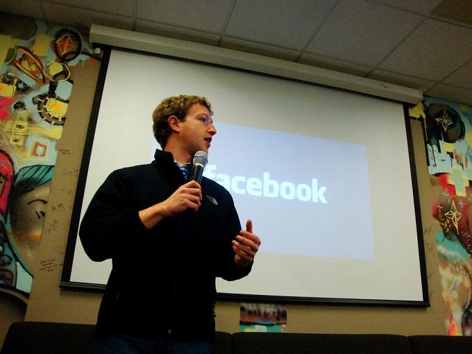 """מארק צוקרברג, מייסד פייסבוק, 27.4.2009. """"הם נותנים בי אמון, הדפוקים המזויינים הללו"""".  צילום: cc by-Silverisdead"""