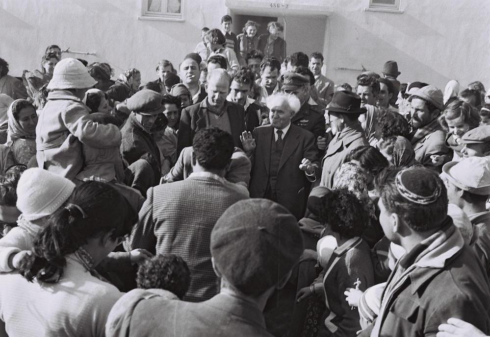 ביקור בן גוריון בקריית גת, 1959. צילום: משה פרידן / לע״מ