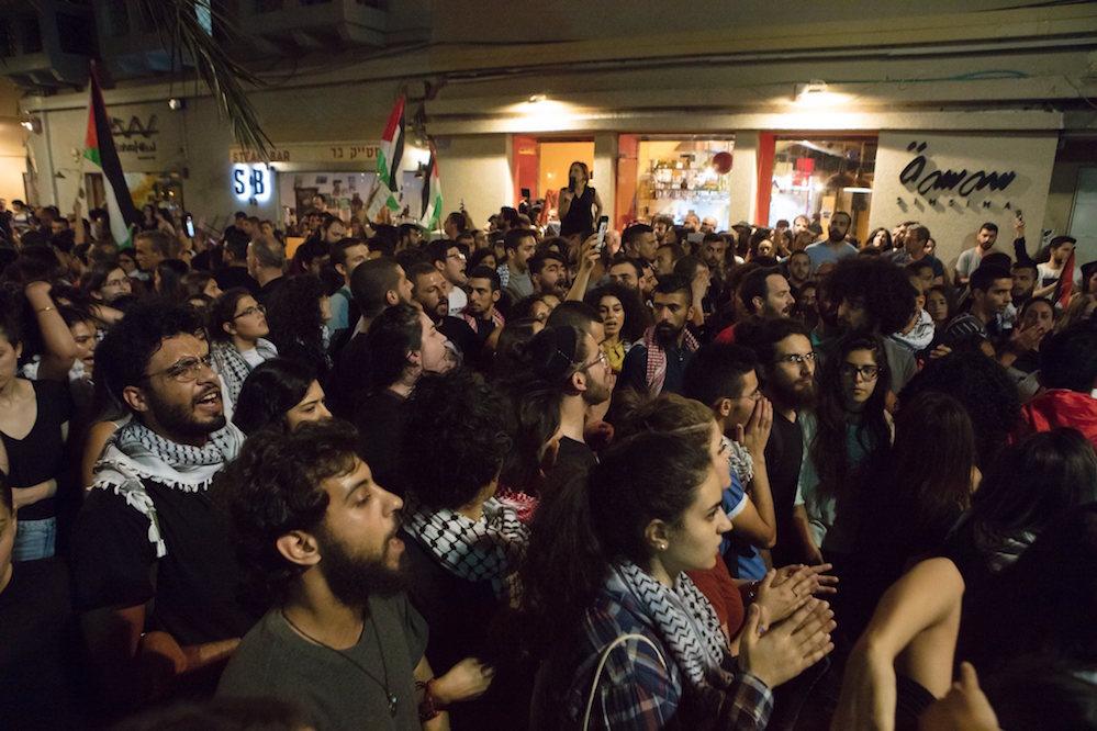 הפגנה בחיפה, 18.05.18. צילום: נדין נאשף