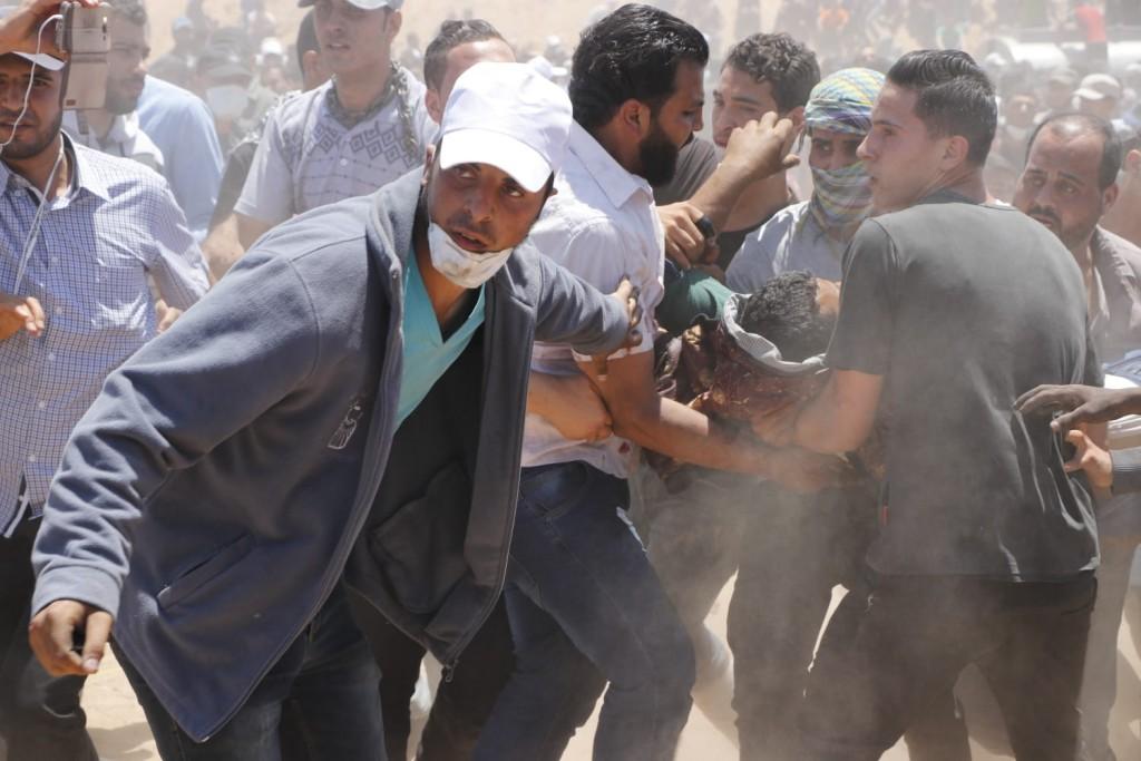 אל בורייג׳, עזה, 14.05.18. צילום: ח'אלד אל-עזאייזה, בצלם