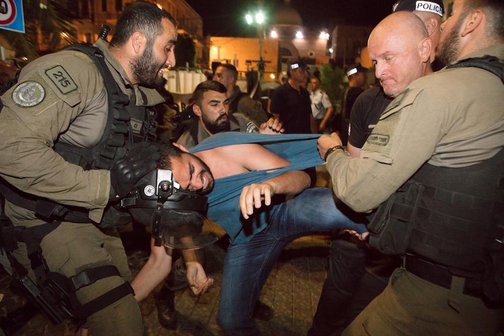 הפגנה נגד ההרג בעזה, חיפה 18.05.18. צילום: נאדין נאשף