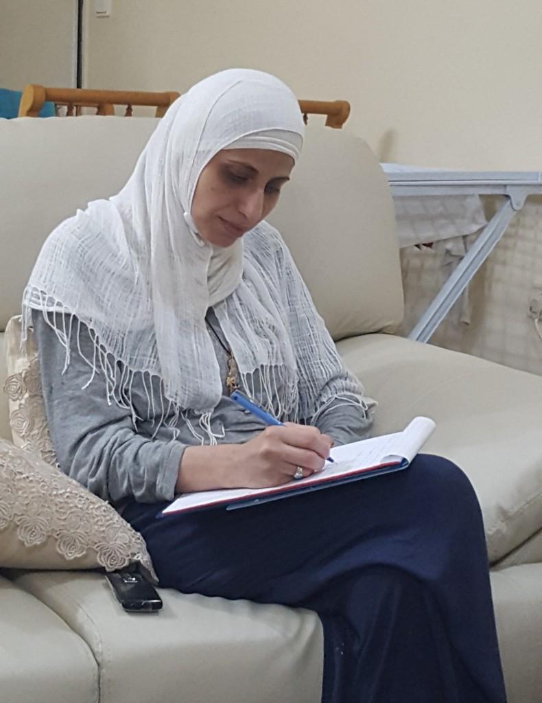 דארין טאטור בביתה, יולי 2018. צילום: יואב חיפאווי