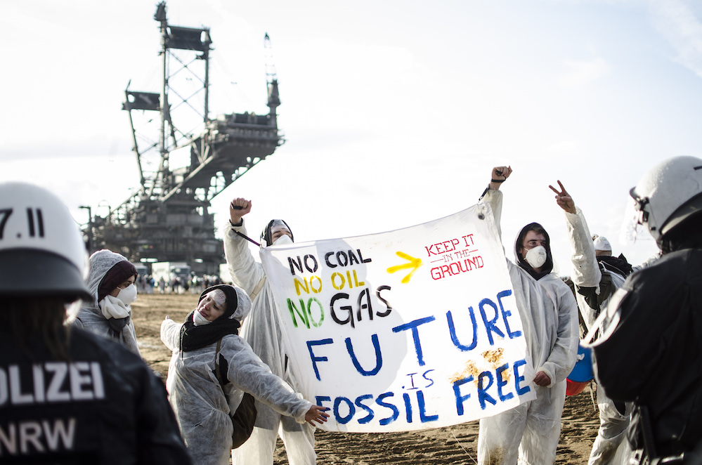 הפגנה של EndeGelände במכרה המבאך בגרמניה, 2017