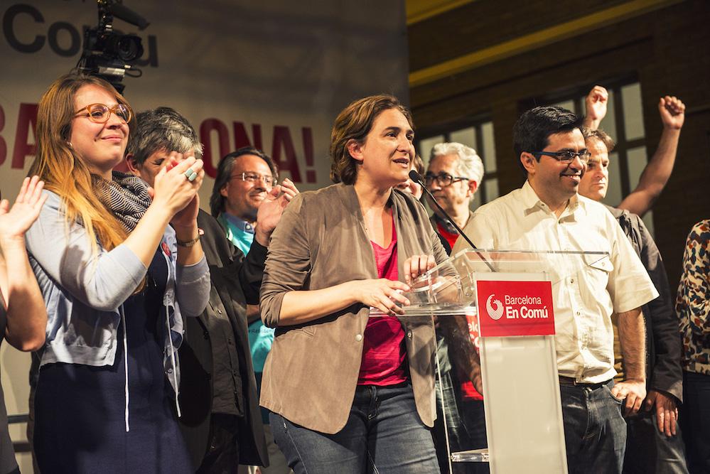 אדה קולאו בליל הבחירות בברצלונה, 2015. צילום: Barcelona En Comú, CC BY-SA 2.0