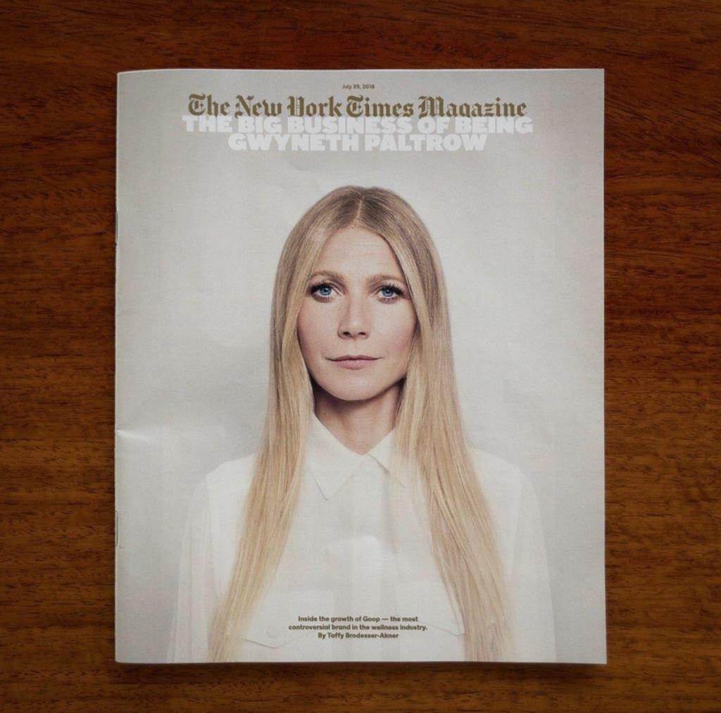 גווינת׳ פאלטרו על שער ה״ניו יורק מגזין״