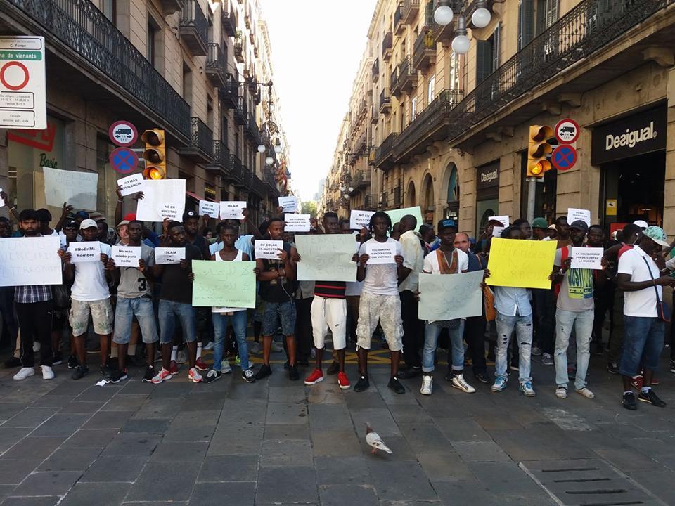 איגוד מוכרי הרחוב בהפגנה באוגוסט 2017. צילום: האיגוד העממי של המוכרים הניידים