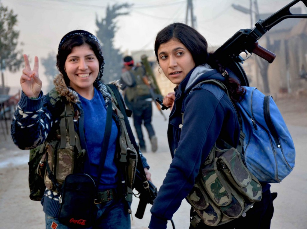 לוחמות YPG, פברואר 2018. צילום: cc by Kurdishstruggle
