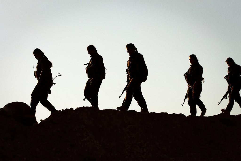 לוחמי YPG, פברואר 2015. צילום: cc by Kurdishstruggle